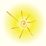 sun light icon vector