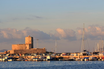 sicilia trapani paesaggio dal porto