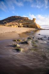 Rock formation in the beach of  Los Cocedores in Almería, Spain