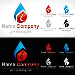 Logo plombier chauffagiste