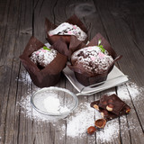 Fototapeta Fresh chocolate muffins