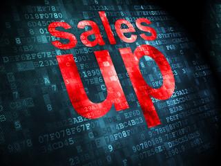 Marketing concept: Sales Up on digital background