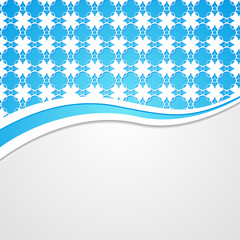 blue lacy background with a border