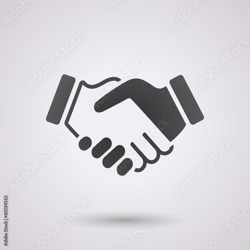 black handshake background poster