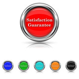 Satisfaction guarantee icon - vector set