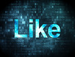 Social network concept: Like on digital background