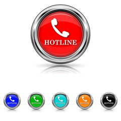 Hotline icon - vector set
