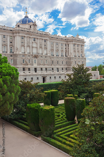 Aluminium Madrid Royal Palace in Madrid