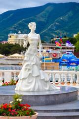 Monument on the coastline