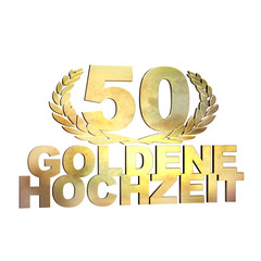 50 Jahre - Goldene Hochzeit