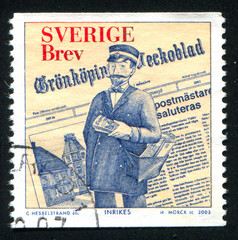 Newspaper and fictitious Postmaster of Gronkoping