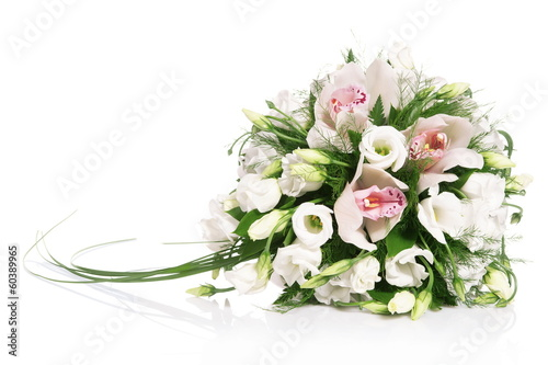 Fotobehang Orchidee Bouquet of flowers isolated on white