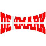 Denmark Danmark Flag Logo Design poster