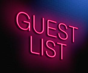 Guest list concept.