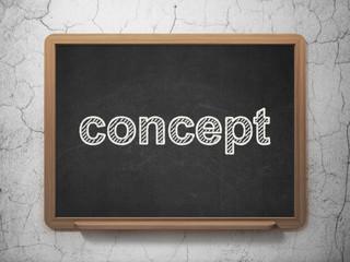 Marketing concept: Concept on chalkboard background