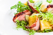 salad with  pineapple and smoked meat