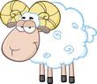 Cute Ram Sheep Cartoon Mascot Character