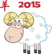 Ram Sheep Cartoon Character Under Text 2015