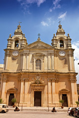 St. Pauls Cathedral in Mdina, Malta.