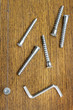 Screws for assembling furniture and simple tool