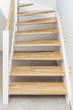 Leinwanddruck Bild - Treppenstufen Holztreppe
