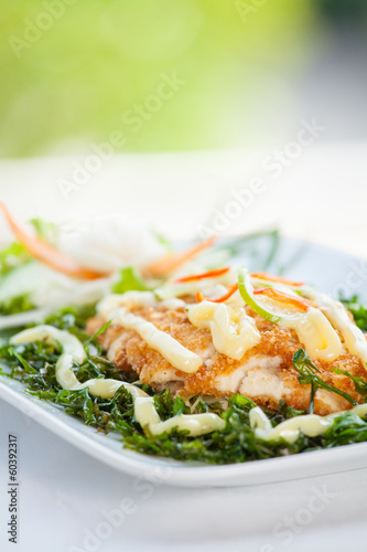 Fish dish - fried fish fillet
