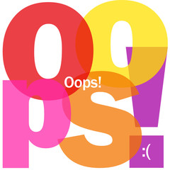 """OOPS!"" Letter Collage (sorry apologies message card regret)"