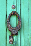 spain knocker lanzarote abstract door wood