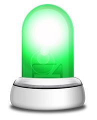 Leuchtdiode grün mit Sockel