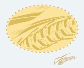 Wheat badge