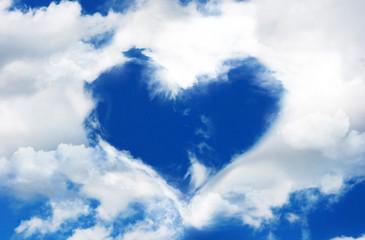 Nuages en forme de coeur