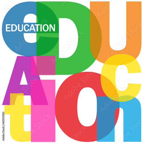 """EDUCATION"" Letter Collage (training skills university school)"
