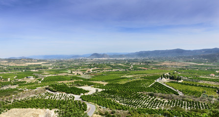 View from Montesa Castle near Ontinyent Valencia Spain
