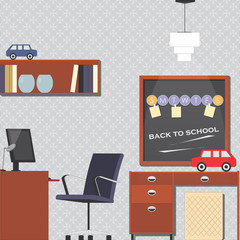 Child-room interior vector illustration