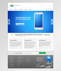 Technology System Website Template Design