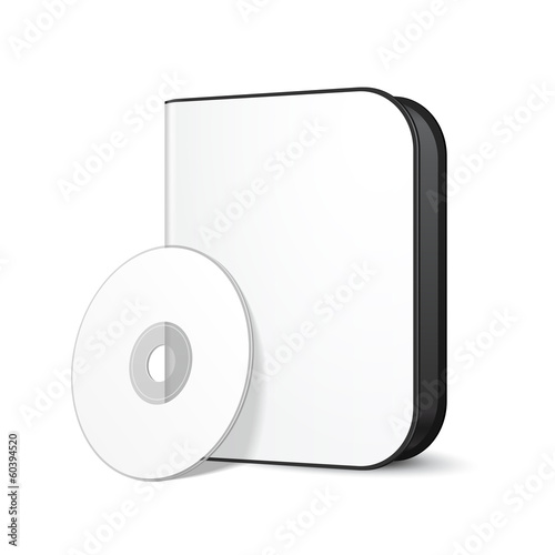 White Rounded Modern Software Package Box With DVD