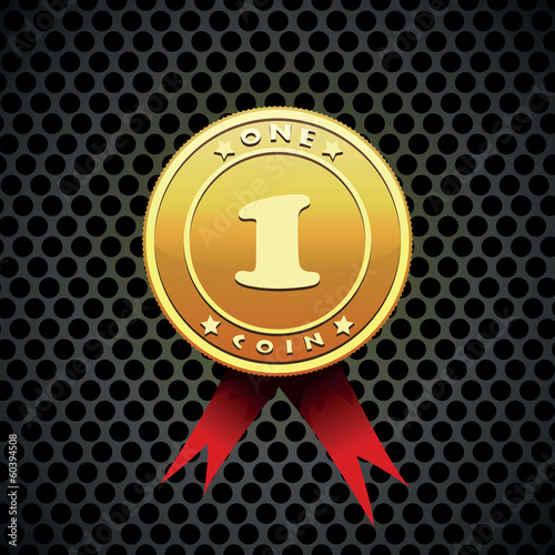 gold coin vector illustration
