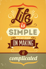 Wise words. Vector typography