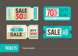 Vector sale tickets