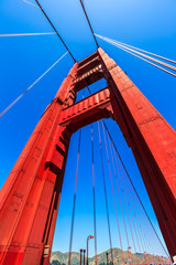 Golden Gate Bridge details in San Francisco California