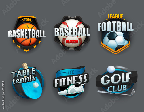 Set of different sport icons. Vector