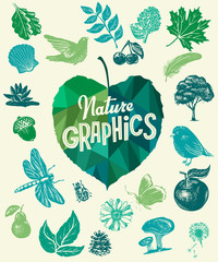 Nature design elements. Vector