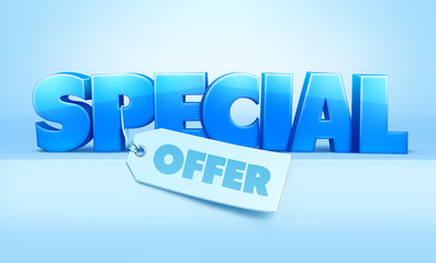 Special offer text. Vector