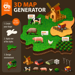 Vector 3d map generator