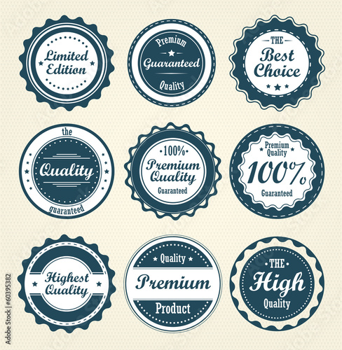 Collection of labels. Vector