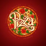 Fototapety Pizza design template
