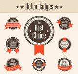 Retro badges. Vector