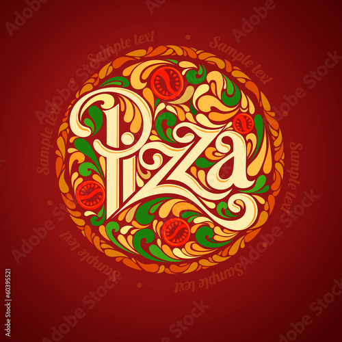Pizza design template