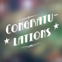 Congratulations Typography Background