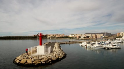 Lighthouse in Marina San Gabriel in Alicante